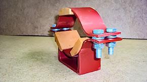 Опора трубопровода У2068 изготовленная по чертежу №20823011715001030